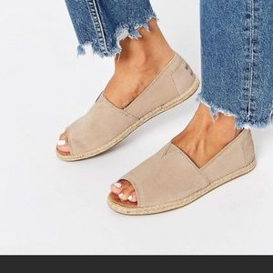 TOMS Alpargata Open Toe Slip-On size 7.5